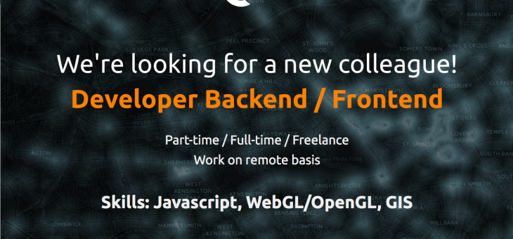We're looking for a new colleague – backend/frontend developer